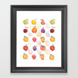 Fruit party Framed Art Print