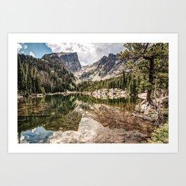 Dream Lake Painted Landscape Photography Art Print