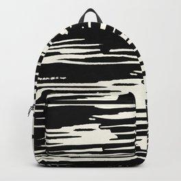 Modern Tribal Stripe Ivory and Black Backpack