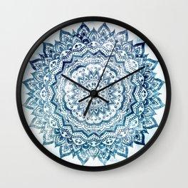 BLUE JEWEL MANDALA Wall Clock