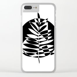Geometric leaf - 2 Clear iPhone Case