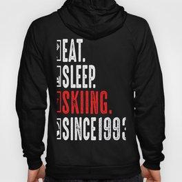 Skier Eat Sleep Skiing Since 1993 Skiing Vacation Hoody