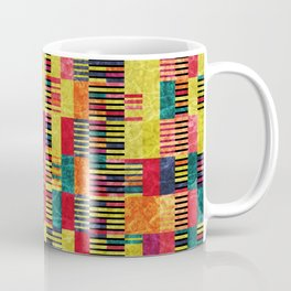 Colorful Geometric Shapes and Lines (Pattern Occurring) #02 Coffee Mug