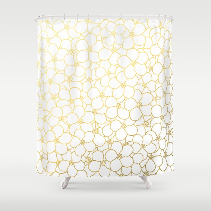 Forget Me Knot White Gold Shower Curtain By Projectm Society6