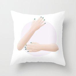 (Hug me) please III Throw Pillow