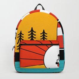 Retro Acadia National Park Maine Portland Bar Harbor Mountain Island Souvenir 80s Backpack