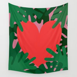 Wild Does My Love Grow Wall Tapestry