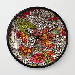 Random Flowers Wall Clock