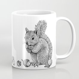 Squirrel and Acorns Coffee Mug