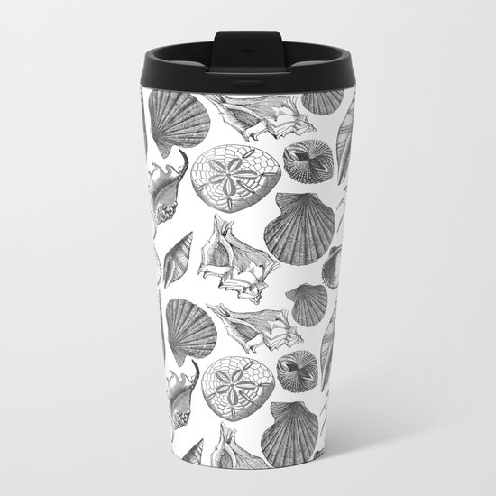 Sea and Ocean Life-Shell Pattern-Mix & Match with Simplicity of life Metal Travel Mug