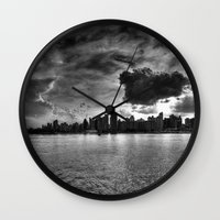 gotham Wall Clocks featuring Gotham by Sonic Highlark
