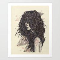 fern Art Prints featuring Fern by Brettisagirl