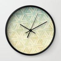 escher Wall Clocks featuring escher pattern by Vin Zzep