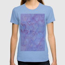 Pink Hearts Pattern T-shirt