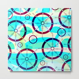Ship wheels Metal Print