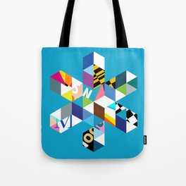 Collage Snowflake Tote Bag