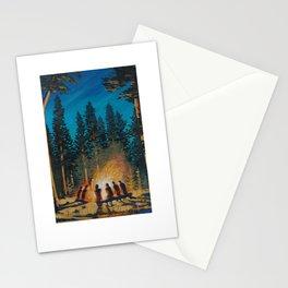 campfire gathering Stationery Cards