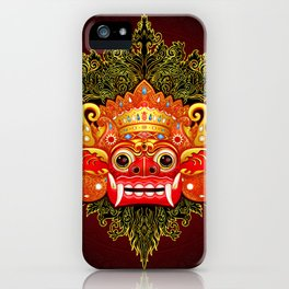 Barong, Balinese mask, Bali mask #4 iPhone Case