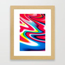 foreshore sunset Framed Art Print