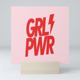 GRL PWR - GIRL POWER 8 - in Red Mini Art Print