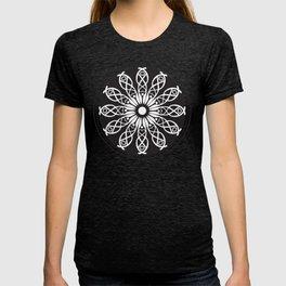 White flower mandala T-shirt