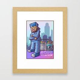BBoy Stance Framed Art Print