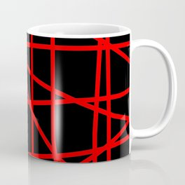 Doodle (Red & Black) Coffee Mug
