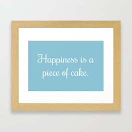 The Secret to Happiness Framed Art Print