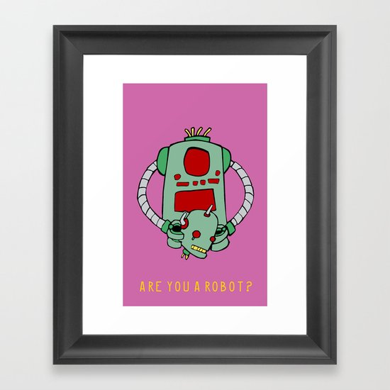 Are We Robot? Framed Art Print
