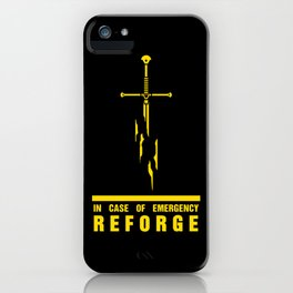 In case of emergency reforge iPhone Case