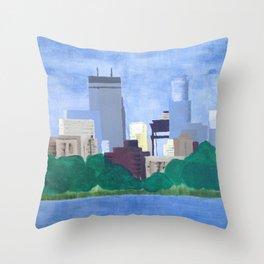 Calhoun Minneapolis Throw Pillow