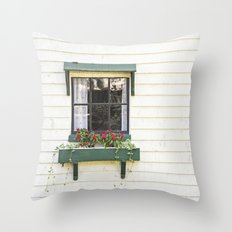 The Green Window Throw Pillow