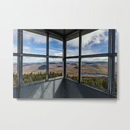 in the firetower Metal Print
