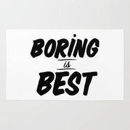 Boring is Best Rug
