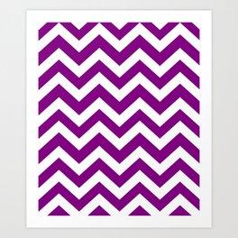 Patriarch - violet color - Zigzag Chevron Pattern Art Print