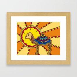 Desert Camel Framed Art Print