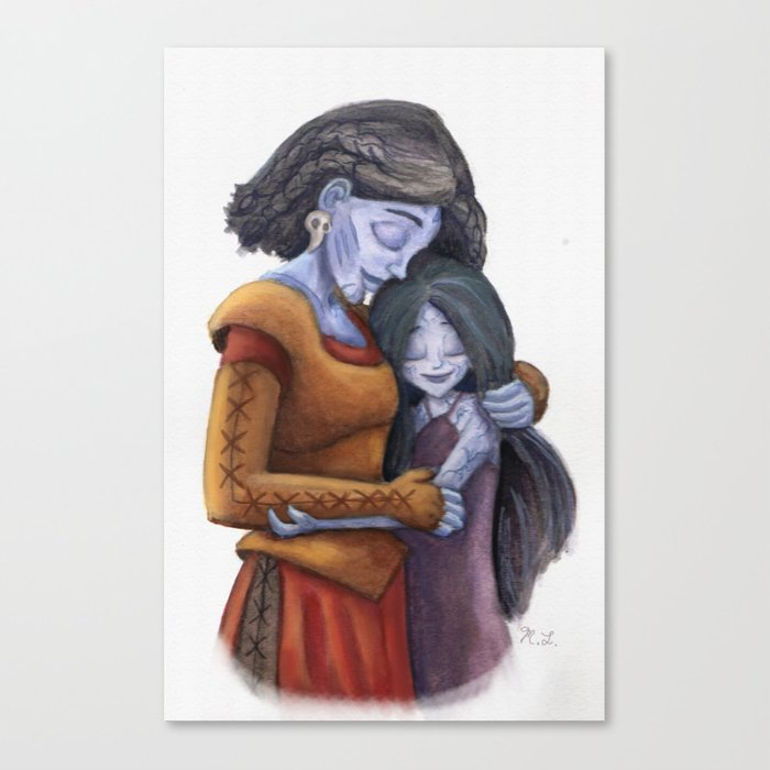 Angrboda and Hela Canvas Print