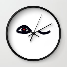 Eye Candy (minimalist illustration) Wall Clock