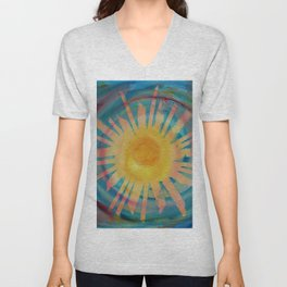 Jah Sun is on the Rise Again Unisex V-Neck