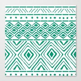 African Mud Cloth // Aquamarine Canvas Print