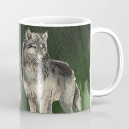 Love The Wolves Watercolor Coffee Mug