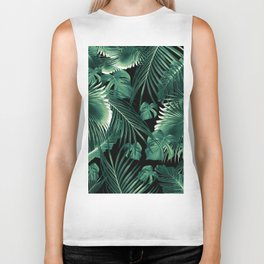 Tropical Jungle Leaves Dream #6 #tropical #decor #art #society6 Biker Tank
