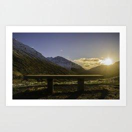 Edge of the Mountain Art Print