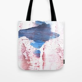 Pink blue streaked abstract Tote Bag