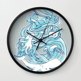 Plenty of Fish in the Sea Wall Clock