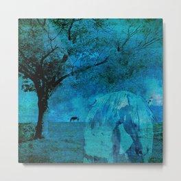DREAM HORSE BLUE Metal Print