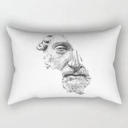 MARCUS AURELIUS ANTONINUS AUGUSTUS / black / white Rectangular Pillow