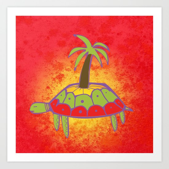 Pacific Turtle Art Print