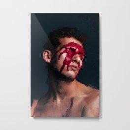 Oil Painting Portrait Metal Print