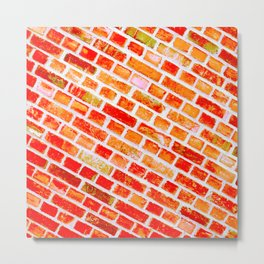 orange wall I Metal Print